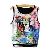 2016 New Psychedelic Abstract art hemp weed leaf Print Crop Top funny sexy women Cropped Tops summer Casual basic Tank Tops vest