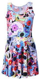 WEED LEAF Adventure Time Lumpy Space Princess Print Dresses For Women 2014 Summer Skater punk Dress Vestidos Plus Size