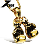 Fashion Sporty Boxing Gloves Male Jewelry Pendant Necklace Personality Stainless Steel Men Jewelry Accessories Necklace,JM1095