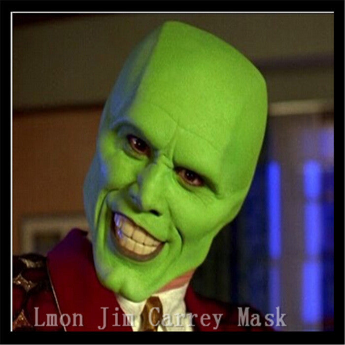 Free shipping Halloween Party Cosplay Details Loki latex mask Jim Carrey Costume Fancy Dress Famous Movie Film Props 'The Mask'