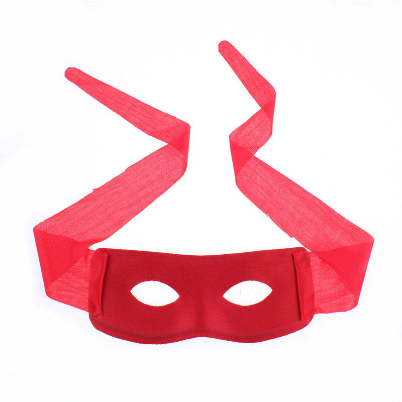 BLACK RED MASQUERADE PARTY MASK ZORRO EYE MASK COSTUME