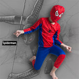 Children Halloween Captain America Spiderman Cosplay Costume Kids  Superman Batman Zorro Altman Costume Part Wear