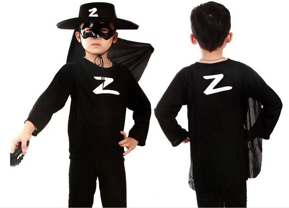Free Shipping!Halloween Children Gifts Hero Masquerade Novelty Costume Zorro Batman Spider-man Superman  Character Suit for Kids