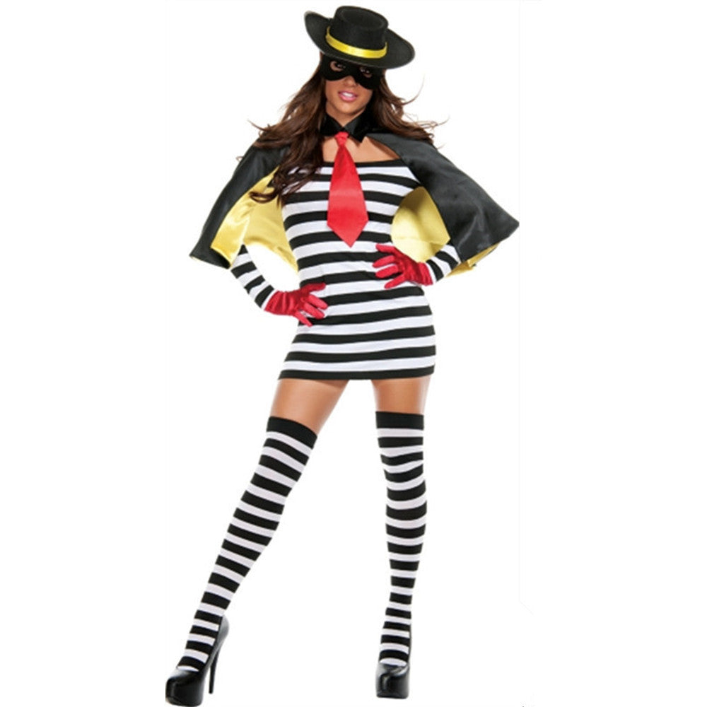 New Masked Female Zorro Role Playing Disfraces Halloween Party Cosplay Costumes Pirate Cosplay Outfit H1631013