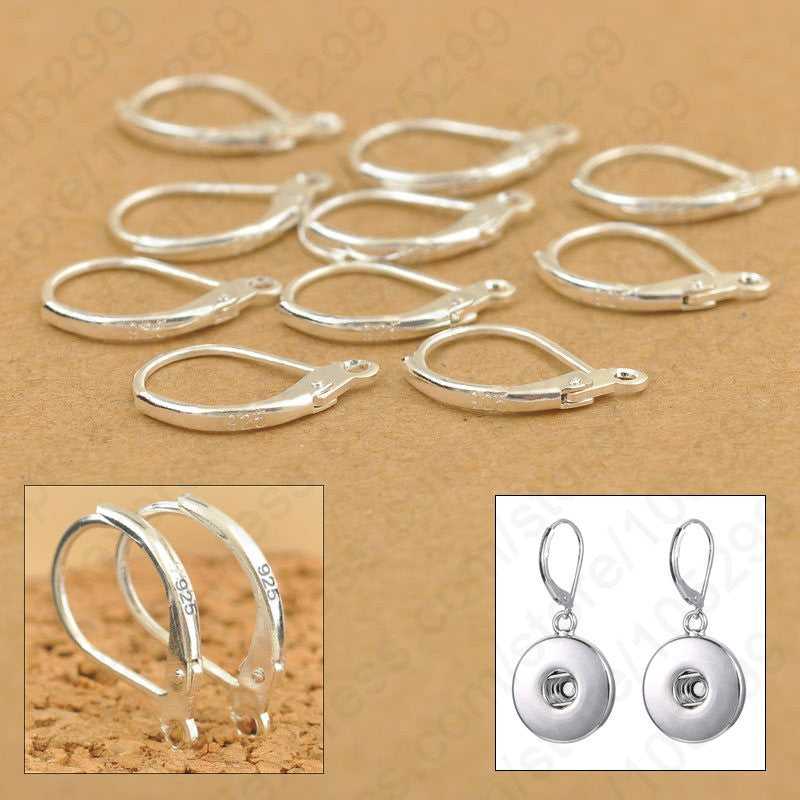 200PCS Fine Jewellery Components Genuine 925 Sterling Silver Handmade Beadings Findings Earring Hooks Leverback Earwire Fittings