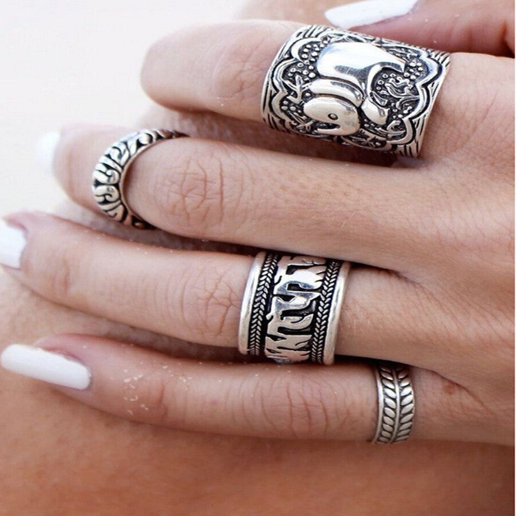 2016 New trendy fashion Gypsy Charm jewelry maxi Ring set for women