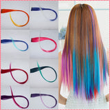 hair extensions 2016 New Arrive fashion women's Long Synthetic Clip In Extensions Gradient Color cosplay  hair pieces #JO009