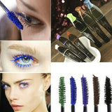 Newest Waterproof Blue Purple Black Brown Mascara Long Fiber Curl Eyelash Extension Free Shipping