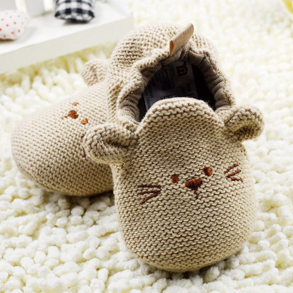 Fashion New Autumn Winter Baby Shoes Girls First Walkers Newborn Crib Shoes 0-18M Shoes