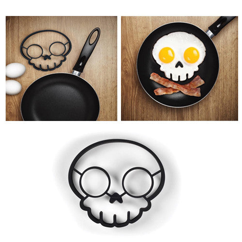 Hot New Gadgets 2015 Funny Side Up Silicone  Skull Fried Egg Mold Kitchen gadget Cooking Tools