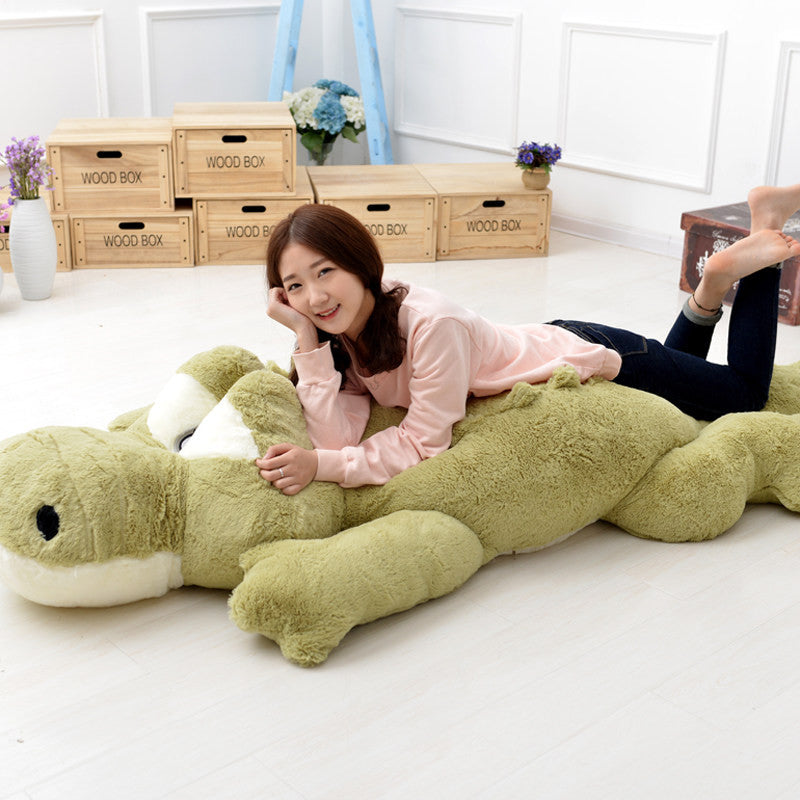 Baby Appease Toy Green Crocodile Soft  Sleep Pillow  Lying Section Plush Pillow Baby Crib Foldable Cushion Stuffed Plush Toy