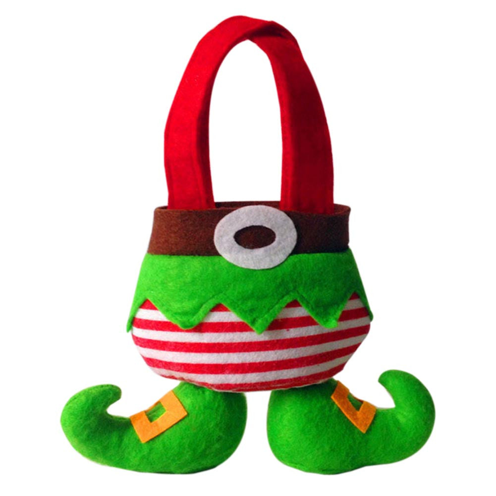 Christmas Gift Sprite Bag Green Sprite Candy Bag Cute-type Christmas Gift Bag