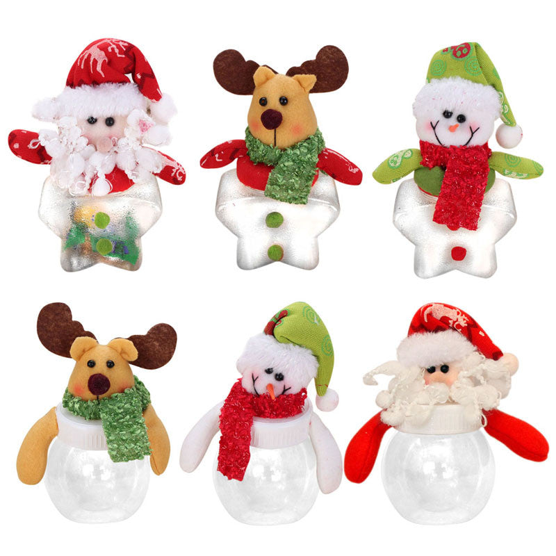 2016 Christmas Candy Bottle Santa Claus,Snowman,Elk Pattern Mini Santa Candy Bags Gift Storage Bottle Holder For Christmas Decor