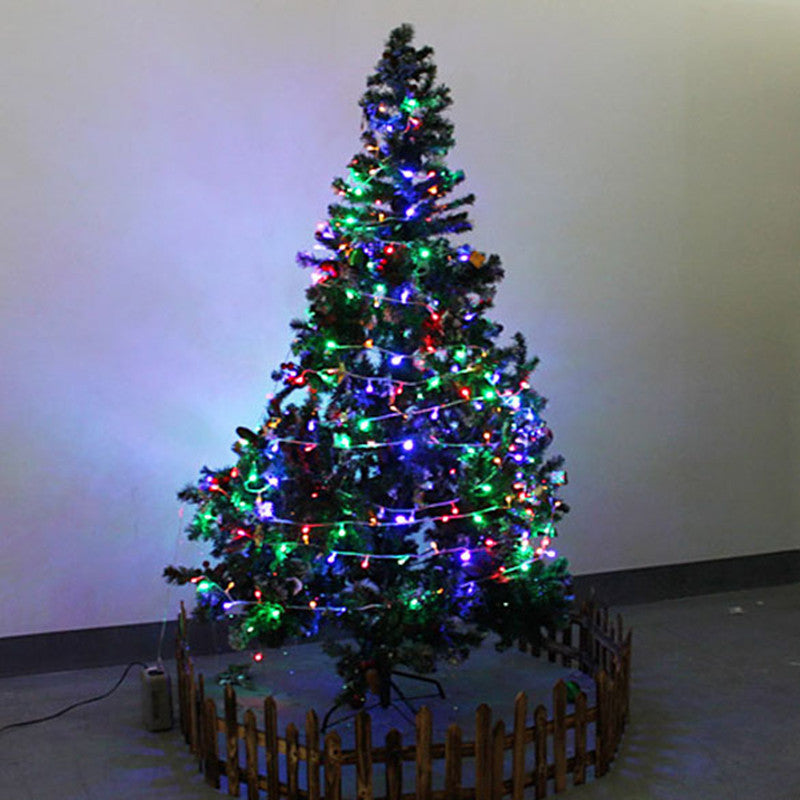 10m Christmas Tree Flashing Light Party LED Light Strip Lamp Colorful Waterproof 220V AC