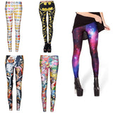 New Arrival 2016 Fitness Women Leggings Casual 3D Print Hot Sale Fashion Jeggings Cartoon Long Pants Leisure Legging WS65