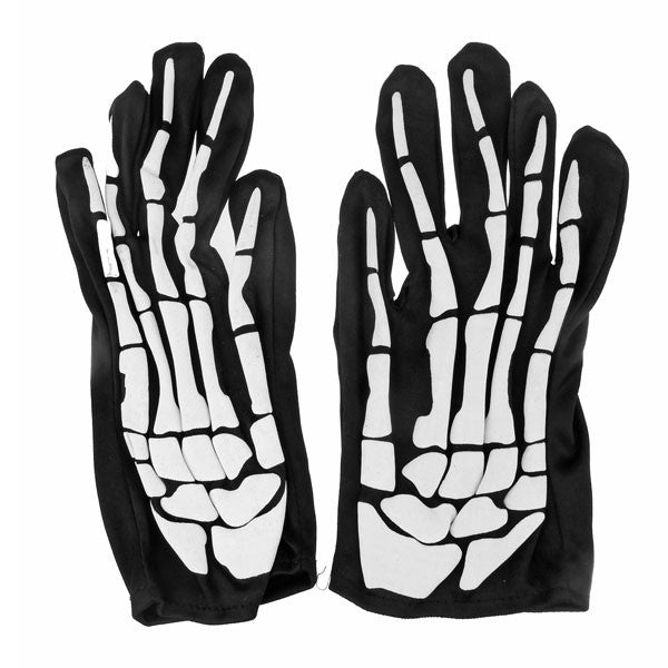 2016 Fashion Skull Skeleton Gloves for Halloween Costume Cosplay Party - Black+ White