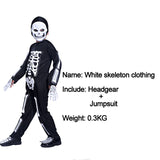 Halloween costume party dress skeleton ghost clothing masquerade party boys Funny skeleton clothes clothes role playing