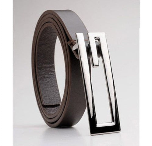 Thin Belt Mens 3 Colors G-Head Casual Buckle Belt for Man Men Clothes 2016