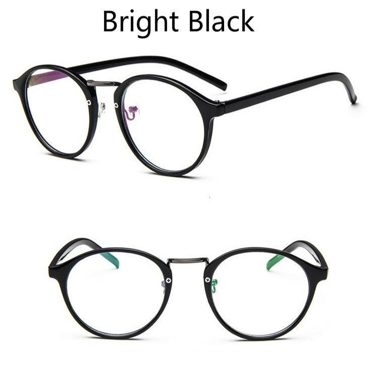 ANEWISH Retro Round Eyes Glasses Frame Men Women Ultra Light Vintage Myopia Eyeglasses Frame Plain Lens oculos de grau femininos
