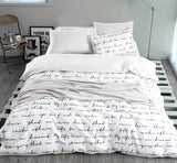 letter Printing Duvet Cover Sets Activity Bedding sets Super King 13 Size,Quilt cover set,Bedroom Bedding,Home Textiles#ZY38