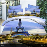 Eiffel Tower 3d bedding set Queen size 3d home textiles river bedding blue sky 4pcs bed set quilt cover bedsheet pillowcases5454