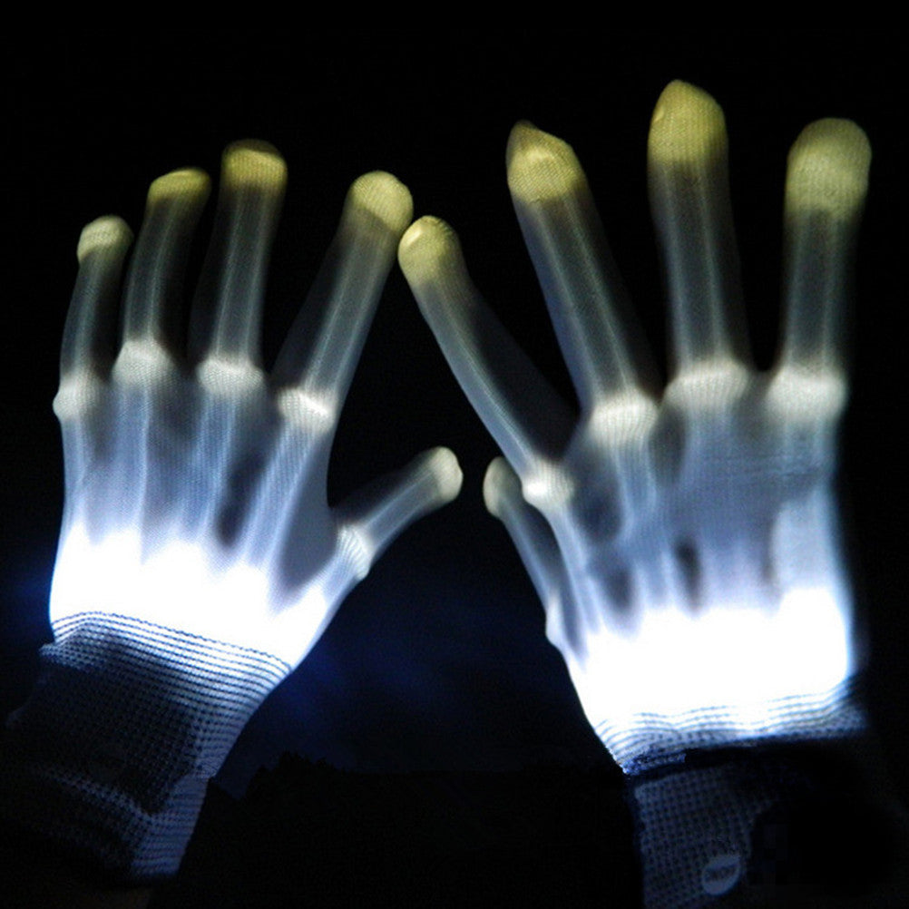 Pair of led lighting glove flashing cosplay prop glove,led light toy item for Halloween And Party supplies