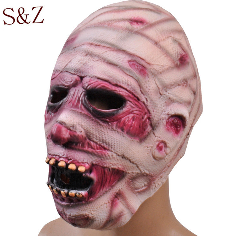 2016 New High Quality Terror Halloween Mask Party Decoration Items Super Terrorist Zombie Head Mummy Zombie Masks Haunted House