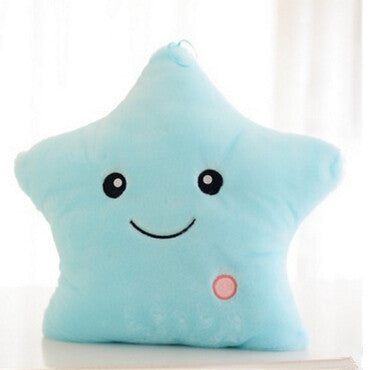 Promotion 38cm*35cm Star Led Light Pillow Cute Star Luminous Pillow with Colorful Light Birthday/Valentine's Day GiftHotSaleL338
