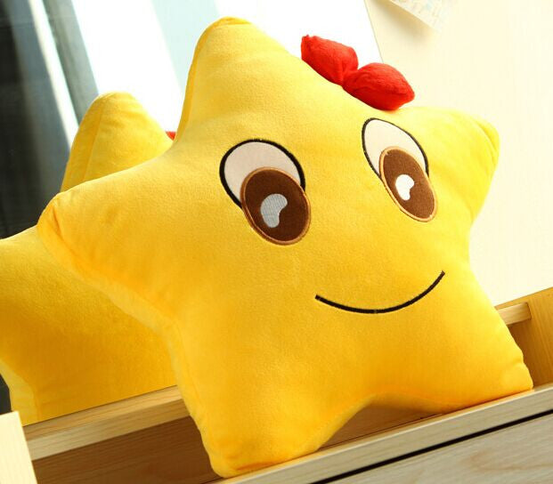 free shipping 40cm five-pointed star pillow cushion, lovers pillow plush toy couple birthday gift valentine day gift