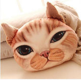 Japanese cartoon lifelike 3D stereoscopic cat meow plush toy star pillow cushion