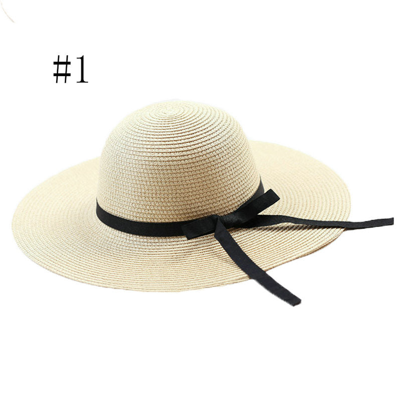 On Sale Women Elegant Straw Floppy Bohemia Cap Fashion Summer Casual Women Ladies Wide Brim Beach Sun Hat