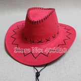 Autumn Mens Large Brim White Western Cowboy Hat Women Sun Cap 5pcs/lot Free Shipping SDDB-016R