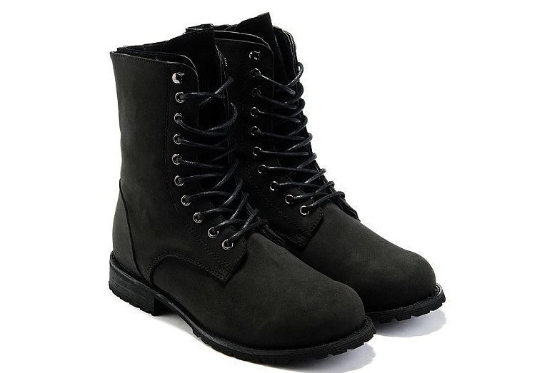 Free shipping! Retro Combat boots Winter England-style fashionable Men's High Top Black shoes Hot Sale Men Ankle Boots