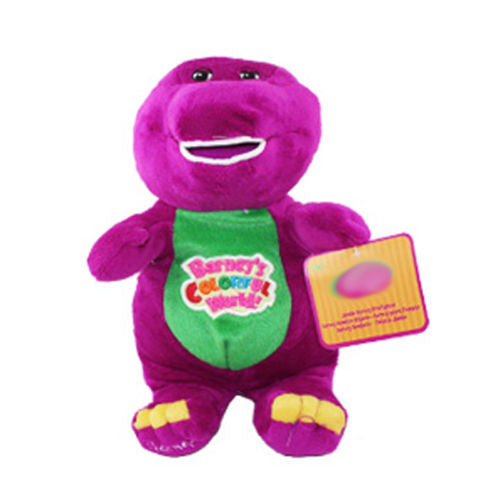 2016 28cm Barney The Dinosaur Sing I LOVE YOU song Purple Plush Soft Toys Doll