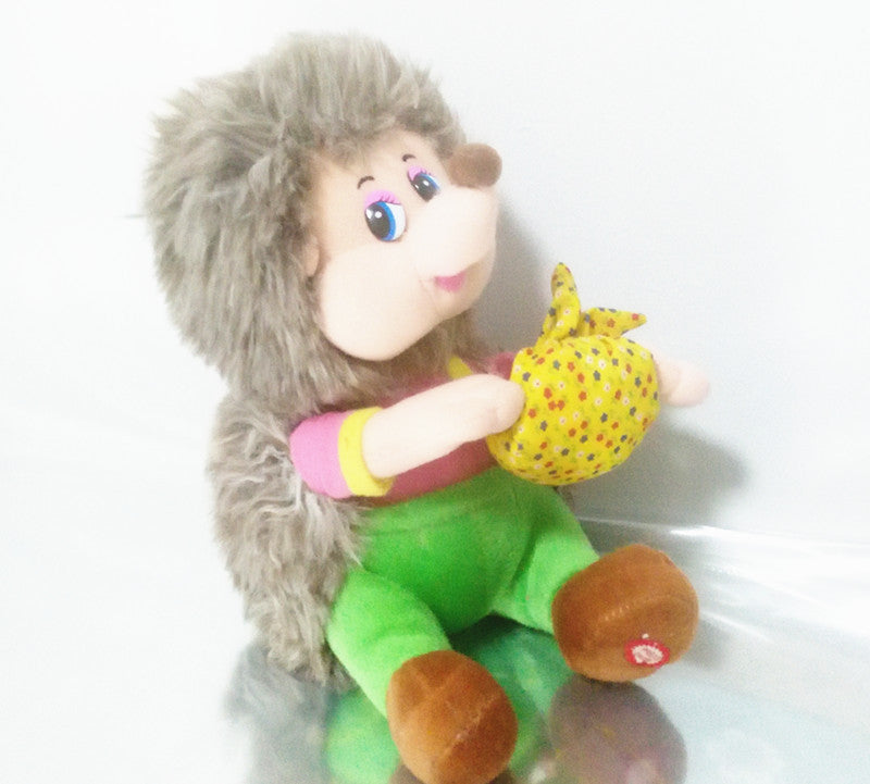 English singing music song masha and bear hedgehog plush electronic dolls toys for boy children kids baby birthday gift