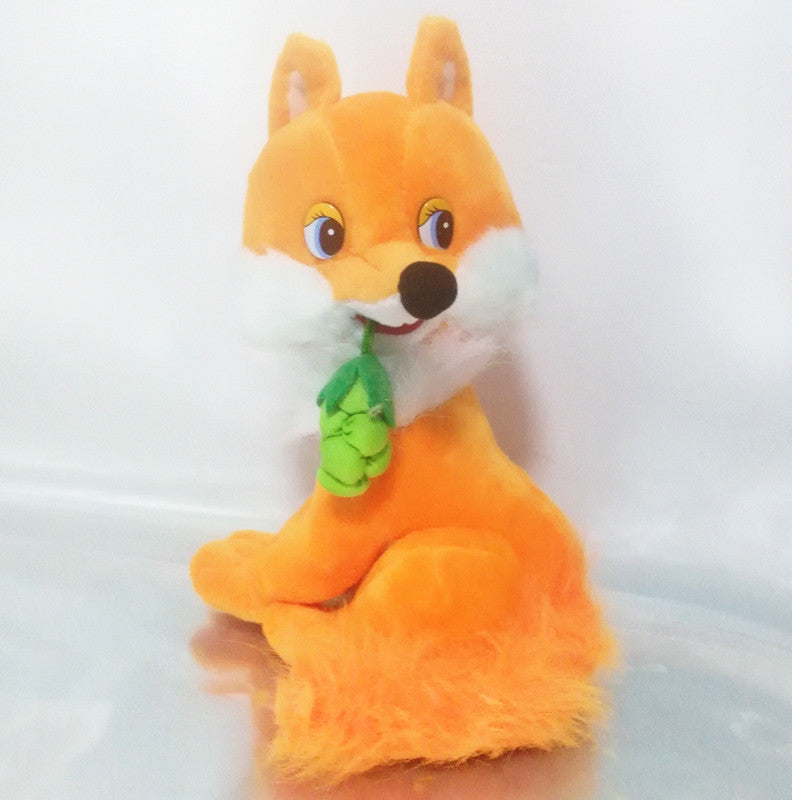 Russian language singing song plush fox soft doll,electronic toys for children,Intellectual russian toy birthday Christmas gift