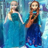 "Hot sale Anna and Elsa Princess toys 11.5"" DIY doll music toys sing let it go baby toy reine des neiges Xmas gift"
