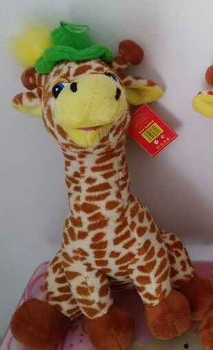 English language singing song plush giraffe doll,electronic pet toys,Intellectual toy Christmas girlfriend gift for children