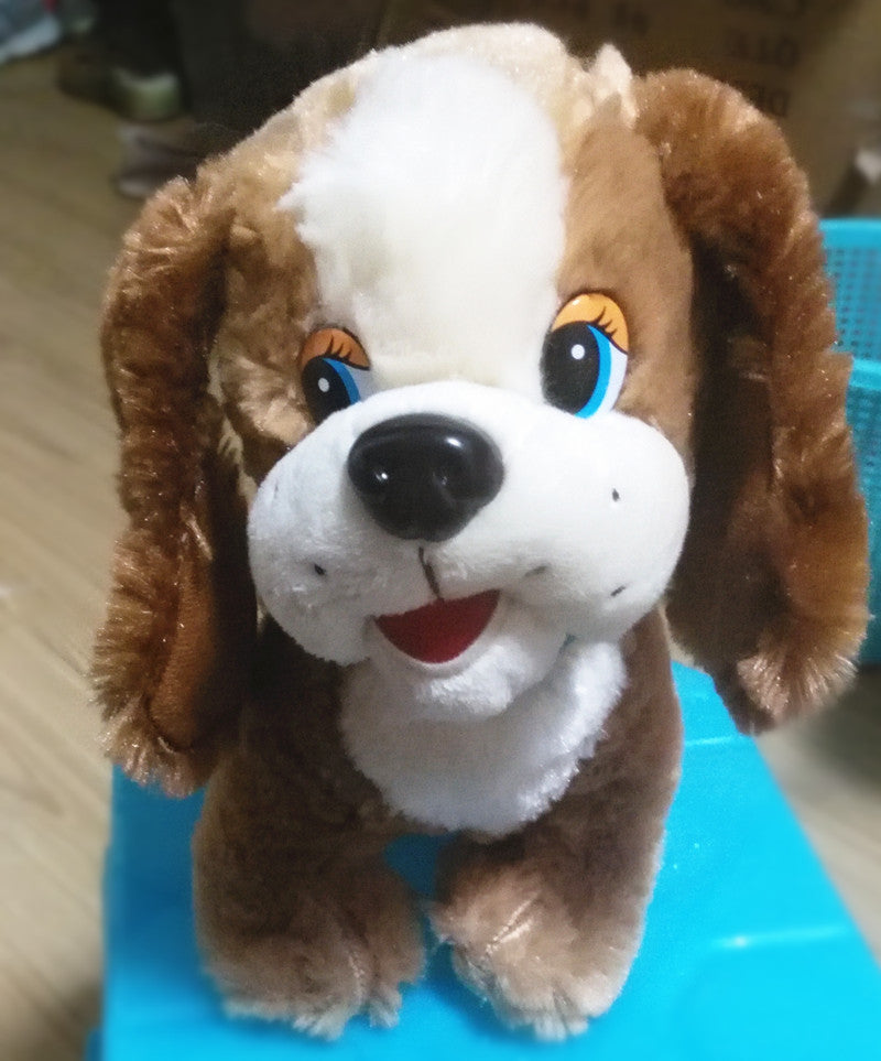 Russian language singing or talking simulation puppy dog Stuffed plush  toys Christmas birthday gift for kids baby children