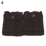 2015 Hot Sale Women Winter Leg Warmers Acrylon Wool Crochet Hollow Knit Boot Socks Toppers Cuffs