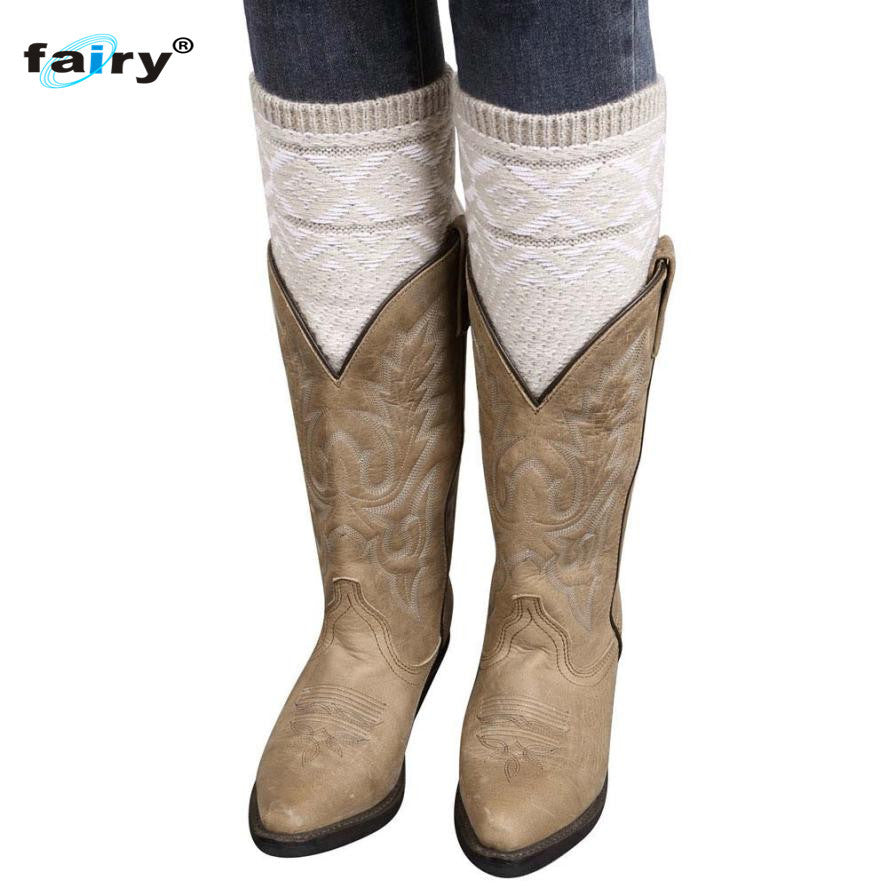 AG 15 Fairy Store 2016 Hot Selling Fashion Jacquard Knitted Leg Warmers Socks Boot Cover