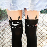 Styles New Harajuku Women Pantyhose Stocking Sexy Personality Bow Heart Stitching Knee Boots Nylon Tights Free Shipping