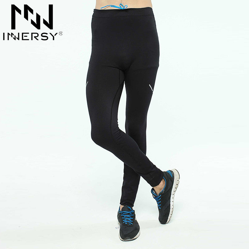 Innersy Men Professional Sport leggings good elastics breathable mens running tights sports tights gym fitness sport pants B7327