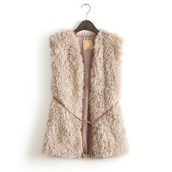 Discount Women Faux Fur Vest Winter Vest Sleeveless Luxury Fur Coat Big Size Slim Fur Vest 12