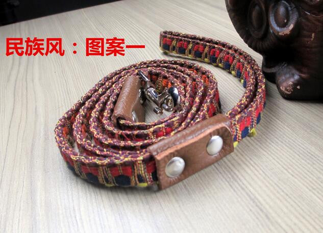Free shipping new colorful ethnic style fashion Pet dog leashes Two styles optional small dogs without collars leash