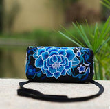 2016 Original national embroidery bag Floral embroidered Shoulder Messenger bag Small Phone Wallet Clutch Coin Bags