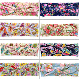 Baby Hair Bands Floral Bow Knots Baby Headbands Girls Hair Accessories 2016 Turban Headband Children Headwear Kids Headwrap Ties