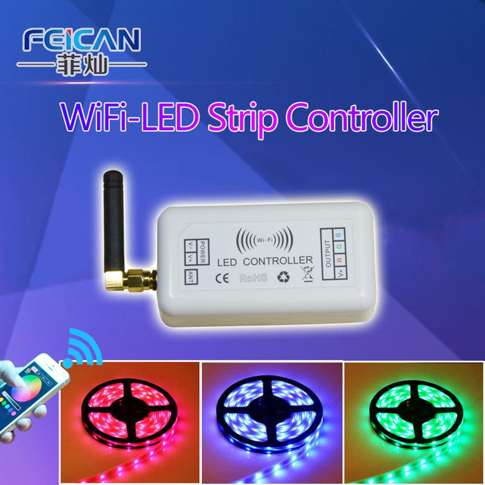 DC12-24V 4A/CH Mini RGB Wifi LED Controller RGB Controller By Android and IOS APP Control For SMD3528 5050 LED Strip Light