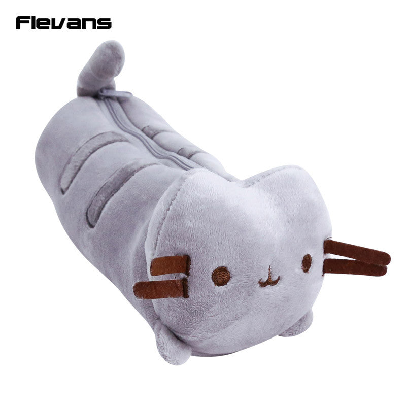 Cute Cartoon Pusheen Cat Plush Pen / Cosmetic Bag Soft Stuffed Animal Dolls Toys 23X9CM