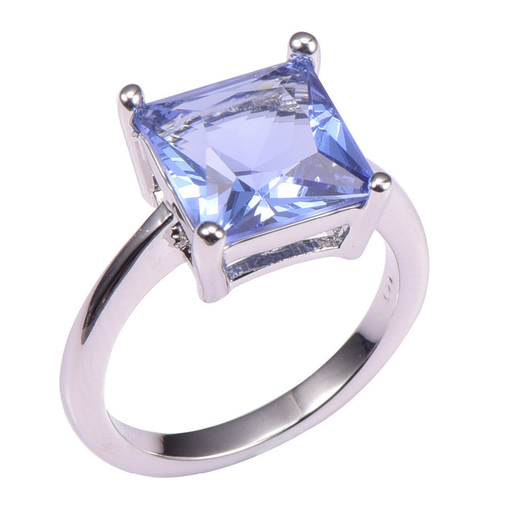 Classic Style Tanzanite 925 Sterling Silver Wedding Party Fashion Design Romantic Ring  Size 5 6 7 8 9 10 11 12 PR40